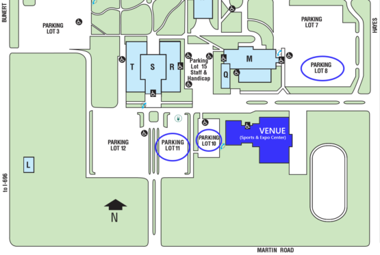 Map to Expo parking